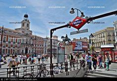Puerta del Sol, Madrid, metro, plaza, plazas