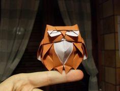 Оригами сова по схеме Романа Диаз (Roman Diaz), видео