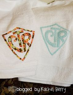 Towel Tutorial- These would even make a great birthday gift with their name or shape on it (princess crown, truck whatever!) Oh the possibilities are endless! Supply list: White Bath Towel fabric of your choice (I would stray away from prints with white, makes it hard to see on the towel) Wonder Under Sewing Pins Iron Sewing machine