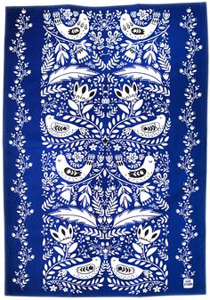 """Birds Towel - from $24.00, 100% Cotton, 20""""W x 30""""H, Machine Wash.  NOTE: Me REALLY likey for kitchen!"""