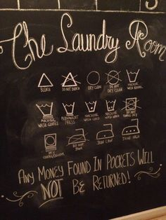 Laundry Room chalk wall art