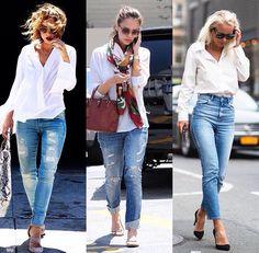 Look inspiração jeans destroied