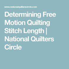 Determining Free Mot