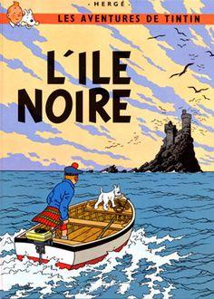 Tintin: The Black Island Art Print by Hergé