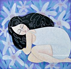 In sé - by Tiziana Rinaldi #sleeping #girl #fairy #painting #art