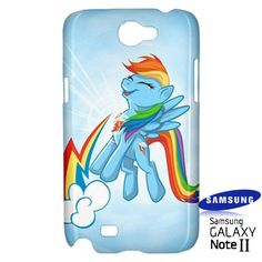 Rainbow Dash Cutie Samsung Galaxy Note 2 Hardshell Case Cover Rainbow Dash - PDA Accessories