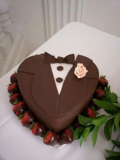 His And Hers Cupcake Cakes Tuxedo And Wedding Dress