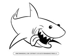 Shark Coloring Pages 24 sharks Pinterest Shark