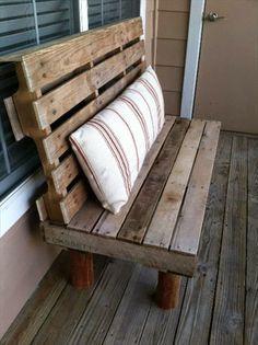 Simple DIY Pallet Bench Designs | Wooden Pallet Fu...