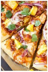 Hawaiin BBQ Chicken Pizza