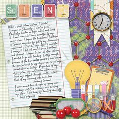 This is my entry for the Challenge Yourself challenge at Go Digital Scrapbooking. I chose Patty B Scraps School Daze because of all of the fun Science elements~ This is a great back to school or graduation kit as well. I began with a template for the My Wish For You Mxology by Arizona Girl, but I did cover up a lot with my journaling!