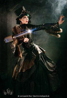Steampunk Starshooter Kleid, Leder