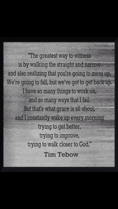 Tim Tebow is such a wonderful man of God!