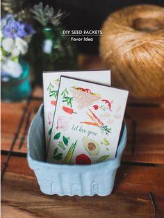 DIY Seed Packets   Favor Idea - cute!