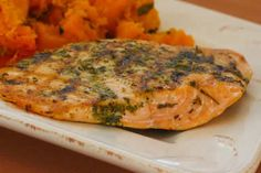 Herb-Encrusted Grilled Salmon Recipe [from Kalyn's Kitchen]