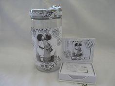 Hochzeitsgästebuch - Hochzeitsgästebuch Geldgeschenk Hochzeit  Box - ein Designerstück von Froehlich-Elena bei DaWanda