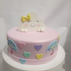 Baby Birthday Cakes, 9th Birthday, 2nd Birthday Parties, Creative Cake Decorating, Creative Cakes, Bolo Fake Princesa, Going Away Cakes, Baby Shower Images, Japanese Cake