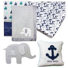 Wendy Bellissimo™ Unisex Mix & Match Crib Bedding Collection in Grey/Navy - BedBathandBeyond.com