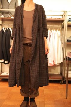 open dress over top and pants--a duster outfit