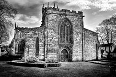 St Mary's Church, Stafford B&W Barcelona Cathedral, Saints, Mary, Building, Photography, Travel, Photograph, Viajes, Buildings