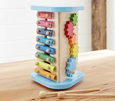 All in One Music Toy  http://www.potterybarnkids.com/products/all-in-one-music-toy/