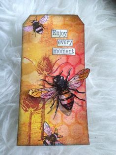 Crea Boutique Creations with a tagalong Tuesday tag, you tube pinned as well; Card Tags, Gift Tags, Lavinia Stamps, Bee Cards, Handmade Tags, Marianne Design, Paper Tags, Artist Trading Cards, Distress Ink