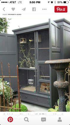 Outdoor Reptile Cage Idea