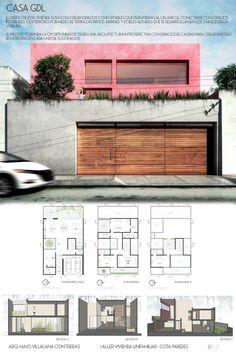 Minimalist House Design, Small House Design, Modern House Design, Home Building Design, Home Design Plans, Building A House, Model House Plan, Dream House Plans, Architectural House Plans
