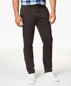 American Rag Men's Stanton Chinos, Only at Macy's - Brown 34x32