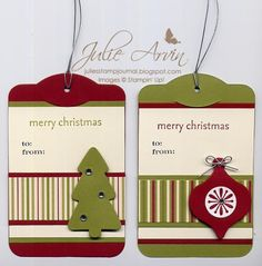 Stocking Accents Christmas Tags Julie Arvin