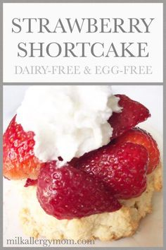 Strawberry Shortcake with Whipped Cream. You will love our shortcuts, and 3 whipped cream options! Smoothie Prep, Raspberry Smoothie, Apple Smoothies, Dairy Free Eggs, Egg Free, Strawberry Shortcake Recipes, Strawberry Bread, Salty Cake, Savoury Cake