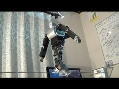 The biped robot which walks a tightrope