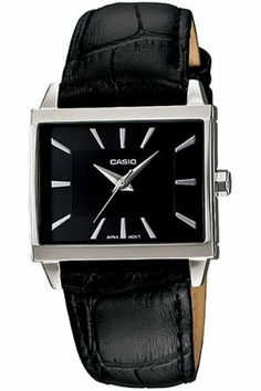 Casio Women's LTP1334L-1A Black Leather Quartz Watch with Black Dial Casio. $42.46. Mineral Crystal. Quartz Movement. 29mm Case Diameter. 50 Meters / 165 Feet / 5 ATM Water Resistant