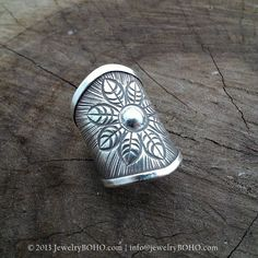 New to jewelryboho4u on Etsy: BOHO 925 Silver Ring-Gypsy Hippie RingBohemian styleStatement Ring R054 JewelryBOHOHandmade sterling silver BOHO Tribal printed ring (33.00 USD)