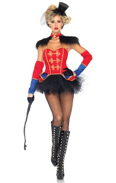 I would HAVE to ad a skirt to this   Leg Avenue Costumes - 4 Pc. Ring Mistress Costume 85031 $86.95