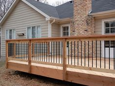 stand off wooden deck railing - Google Search