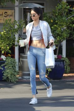 Kendall Jenner Wears a Body Chain and Crop Top in West Hollywood   Teen Vogue