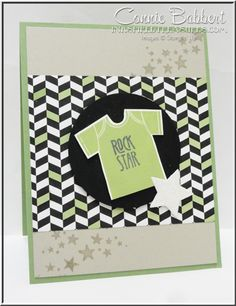 Something for Baby, Onesie, t-shirt, rock star, Stampin' Up!, #stampinup, Connie Babbert, www.inkspiredtreasures.com