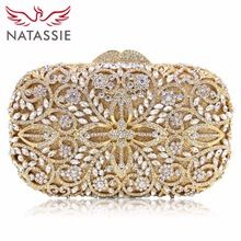 Luxury Crystal Clutch Bag Lady Famous Design Flower Pattern Evening Bag Women Wedding Party Clutch Purses
