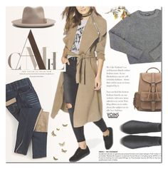 """""""Neutral ground"""" by purpleagony ❤ liked on Polyvore featuring American Apparel, neutrals, casualoutfit, earthtones, yoins and yoinscollection"""