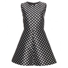 REDValentino Polka-Dot Dress ($390) ❤ liked on Polyvore featuring dresses, vestiti, black, red valentino, kohl dresses, dot print dress, black dress and red valentino dress