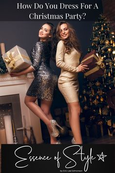 Have you been invited to a Christmas Party and feel stuck fashion-wise. How do you dress for a Christmas party you may be thinking? I have the answer here! Christmas Party Outfits, Business Casual Men, Mens Clothing Styles, Looking For Women, Daily Fashion, Casual Looks, Fashion Dresses, Style Inspiration, Clothes For Women