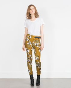 WATERCOLOR PRINT TROUSERS from Zara, gbp 29.99