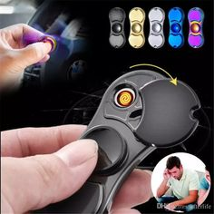 Newest Fidget Spinner Lighter Windproof Rechargeable Usb Charger Lighter Fidget Gift Adult Spinning Spinning Spining Toys From Afterlife, $8.04| Dhgate.Com