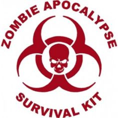 Zombie Apocalypse Survival Kit Decal
