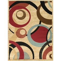 Beige Contemporary Abstract Design Area Rug (5'3 x 7'0) | Overstock.com Shopping - Great Deals on 5x8 - 6x9 Rugs