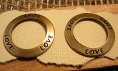 Love Affirmation Rings   Connectors from by beadbarnsupplies, $2.75