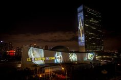 #ProjectingChange       The United Nations Department of Public Information, Oceanic Preservation Society (OPS), founded by photographer and Academy Award-winning director Louie Psihoyos (THE COVE), Obscura Digital, a creative technology studio that has staged multi-sensory media experiences all over the globe, and Fisher Stevens, Academy Award-winning Producer of THE COVE, lit up the United Nations headquarters in a revolutionary call to action for citizens of the world to demand action…