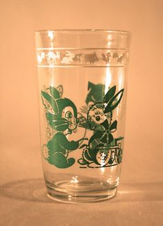 1950s Child's Glass Tumbler   Vintage Duds and Decor