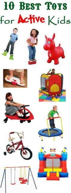 Here are some great ideas for toys to keep active kids moving. #birthday…